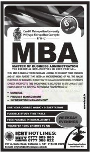 Master of Business Administration (MBA) ICBT City Campus
