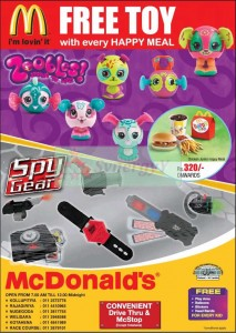 McDonald's FREE Toy Gifts for Every Happy Meals in island wide