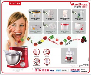 Moulinex Kitchen wears Special offers by SINGER  – January 2013