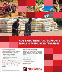 NDB Bank Fund and Working Capital Loans for Small & Medium Enterprises