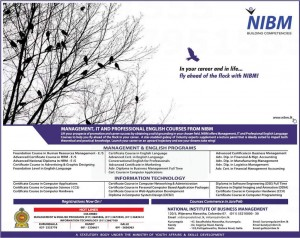 NIBM New Course intakes January 2013