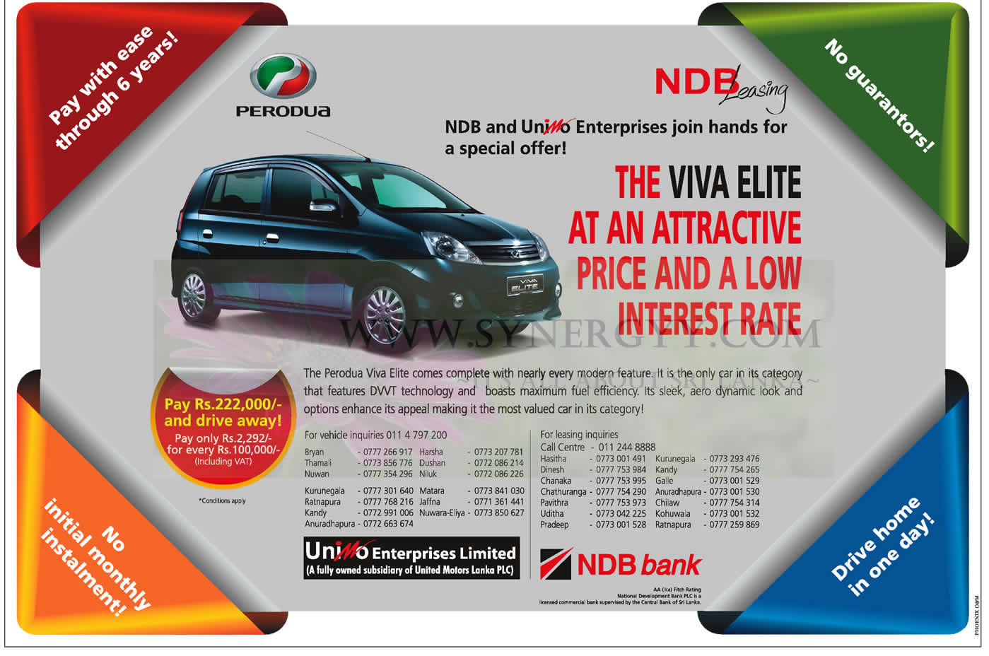 perodua elite leasing with ndb leasing for rs 222. Black Bedroom Furniture Sets. Home Design Ideas