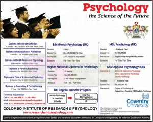 Psychology Diploma, Degrees in Sri Lanka – Colombo Institute of Research & Psychology