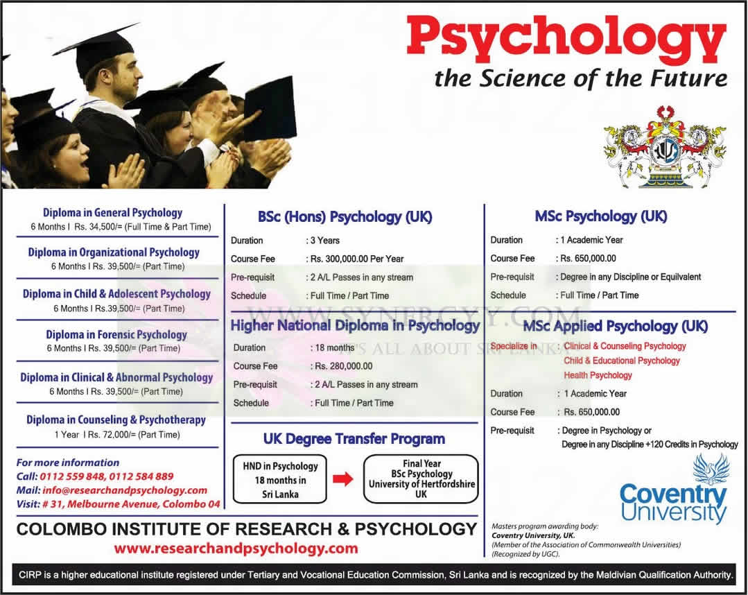 Organizational Psychology foundation courses in law