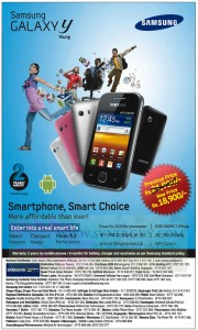 Samsung Galaxy Y Young for Rs. 18,900.00 – January 2013