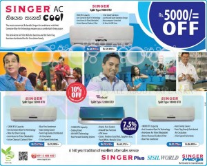 Singer Air Conditioner – 7.5% to 10% off – January 2013