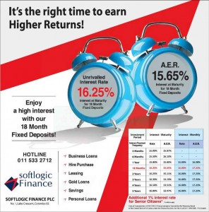 Softlogic Finance Interest for January 2013