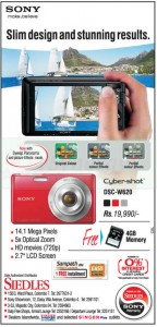 Sony Cyber-shot DSC W620 for Rs. 19,990.00 from Siedles
