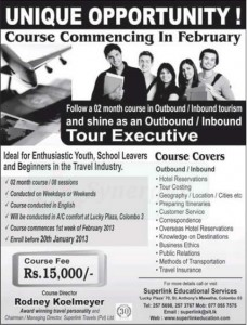 Tour Executive Course in February 2013