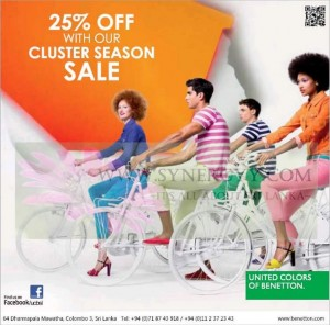 United Colors of Benetton 25% Cluster Season Sale – January 2013