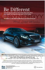 2013 E-Class Mercedes-Benz for USD 45,000 in Srilanka- for Permit holders