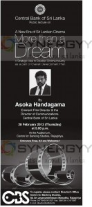 A New Era of Sri Lankan Cinema more than a Dream – A Discussion Forum with Asoka Handagama