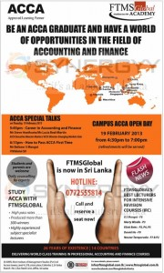 ACCA tutor FTMS Global Academy now in Srilanka