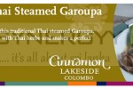 Authentic Thai Steamed Garoupa in Srilanka – Cinnamon Lakeside, Colombo