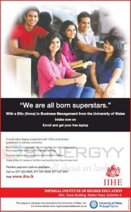 BSc (Hons) in Business Management from University of Wales – IIHE Srilanka