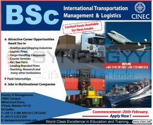BSc International Transportation Management & Logistics by CINEC