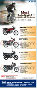 Bajaj Motor Cycle Prices in Srilanka – February 2013