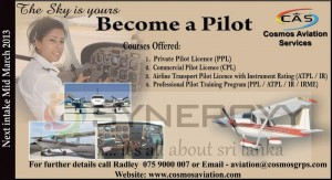Become a Pilot with Cosmos Aviation Service