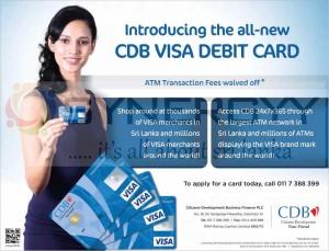 CDB Introduce New VISA DEBIT CARD