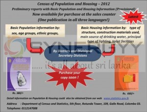 Census of Population and Housing 2012 (Latest) available for sales