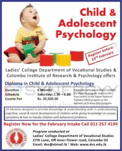 Child & Adolescent Psychology Courses in Srilanka