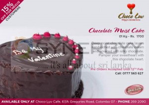 Chocolate Moist Cake for Valentine Day 2013 from Choco Luv