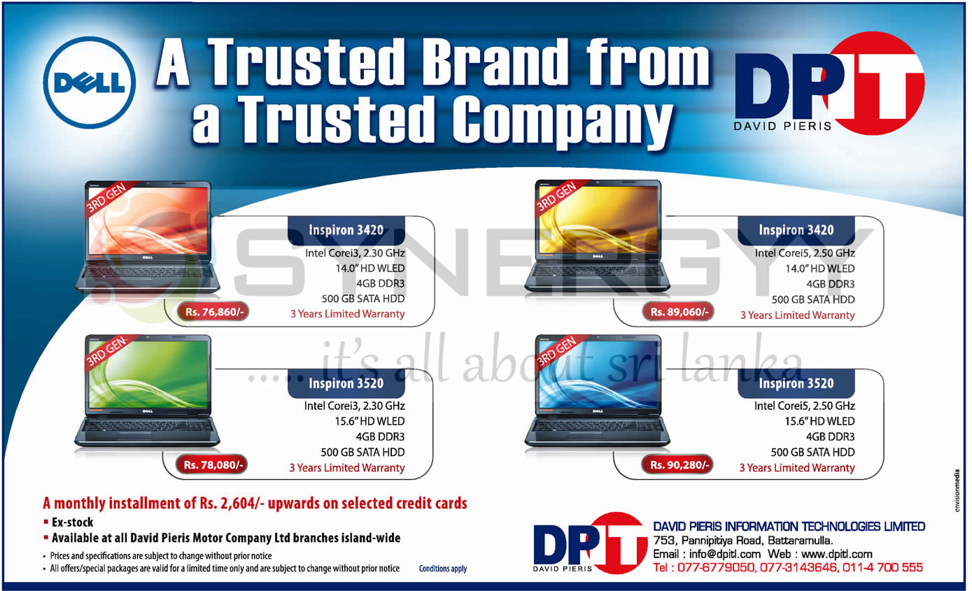 All Cotton Mattress Dell Laptops Prices in Srilanka – February 2013 « SynergyY