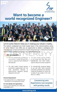 Engineering Degree in Telecommunication/ Mobile Connections/ Electronic – Srilanka Telecom