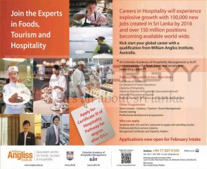Food, Tourism and Hospitality Courses in Sri Lanka by SLIIT (Collaborations with William Angliss Institute)