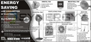 KDK Energy Saving Fan – February 2013
