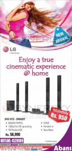 LG Home Theater System for Rs. 56,990 or Rs. 950.00 for Monthly