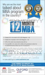 12 Month MBA from Oxford College in Srilanka