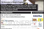 Merchant Navy Officer Cadet Programme by MSTI – apply before 28th February 2013