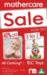 Mother care Sale Now - Discounts upto 40% now – February 2013