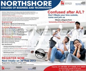 Northshore College of Business and Technology New Take from 26th February 2013
