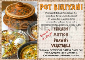 Pot Biriyani from Choco Luv – Feb 2013