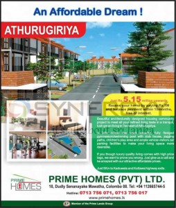 Prime Homes at Athurugiriya for Rs. 5.15 Million Upwards