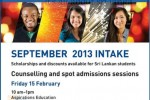Sheffield Hallam University September 2013 Intakes – Counselling in Sri Lanka on 15th February 2013