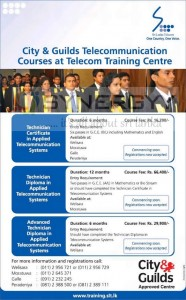 Telecommunication Courses by Sri Lanka Telecom and City & Guilds