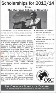 The Overseas School of Colombo – Scholarships for 2013/14