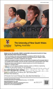 The University of New South Wales – 2013 Intakes for Srilankan Student