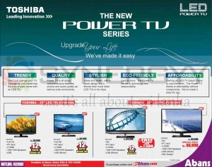 Toshiba LED TV from Rs. 36,990.00 from Abans – February 2013