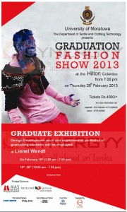University of Moratuwa Graduation fashion Show 2013 – 28th February