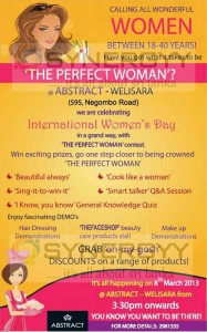 """The Perfect Woman"" an International Women's Day Celebration with Abstract, Welisara"
