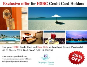 25% off at Amethyst Resort for HSBC Credit Card Holder