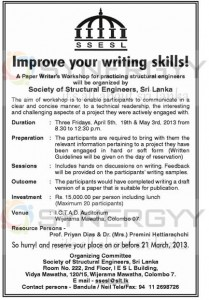A Paper Writer's Workshop for practicing structural engineers by Society of Structural Engineers, Sri Lanka