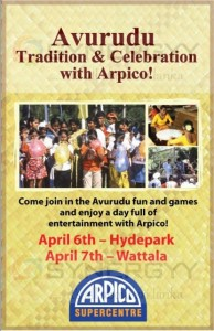 Avurudu Tradition & Celebration with Arpico on 6th and 7th April 2013