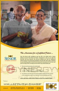 Bank of Ceylon Senior Citizen Account –better Interest rate and Security