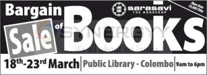 Bargain sale of Books at Public Library from 18th to 23rd March 2013