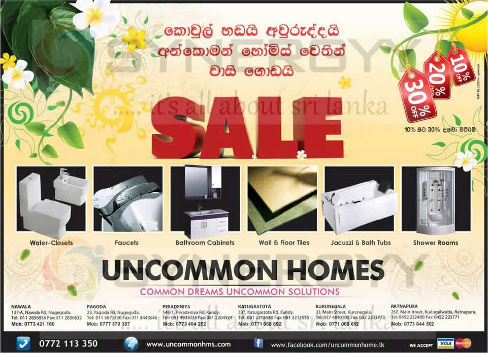Bathroom Fittings Sale 10 To 30 From Uncommon Homes Synergyy